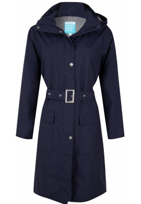 Donkerblauwe dames regenjas (Long Coat) Madonna van Happy Rainy Days