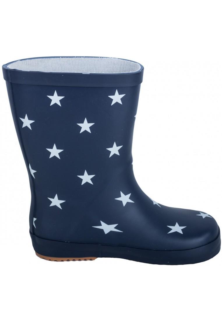 Donkerblauw met sterren kinder regenlaars van BMS (Maat 33
