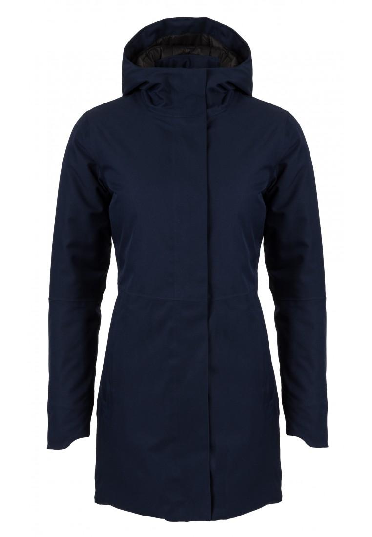 Donkerblauwe dames winterjas Urban outdoor Clean Jacket van