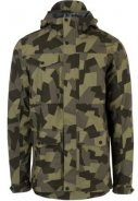 Camo print Urban outdoor pocket regenjas van Agu 1