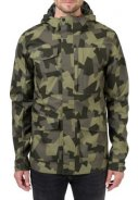 Camo print Urban outdoor pocket regenjas van Agu 3