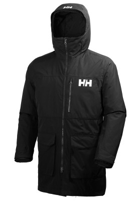 Zwarte heren jas Rigging coat van Helly Hansen