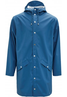 Blauwe  lange regenjas van Rains (Long Jacket)
