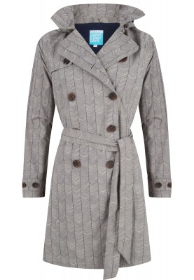 Clay / donkerblauw trenchcoat Celeste van Happy Rainy Days