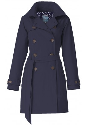 Donkerblauw trenchcoat Nena van Happy Rainy Days