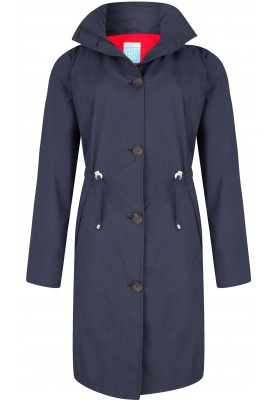 Donkerblauwe coat Madonna Midnight van Happy Rainy Days