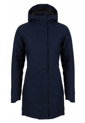 Donkerblauwe dames winterjas Urban outdoor Clean Jacket van Agu