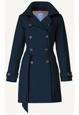 Donkerblauwe Trenchcoat Claude van Happy Rainy Days