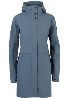 Dusty Blue Urban outdoor damesregenjas / parka van Agu
