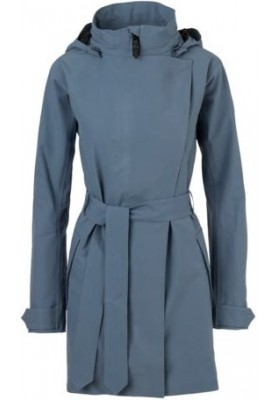 Dusty Blue Urban outdoor damesregenjas / trenchcoat van Agu