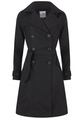 Exclusive twill trenchcoat Broadway zwart van Happy Rainy Days