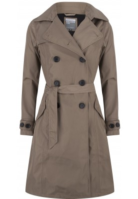 Exclusive twill trenchcoat Tokyo taupe van Happy Rainy Days