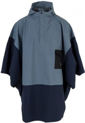 Navy / Dusty Blue Urban outdoor Poncho van Agu