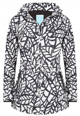 Zwart / witte  jacket Bora van Happy Rainy Days