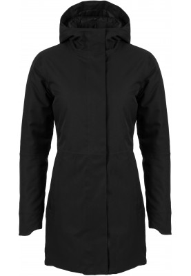 Zwarte dames winterjas Urban outdoor Clean Jacket van Agu