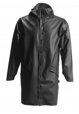 Zwarte lange regenjas van Rains (Long Jacket)